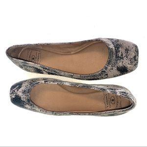 Lucky Brand Santana Square Toe Flat Shoes Marble